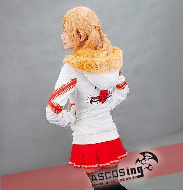 На картинке куртка Асуны «Sword Art Online», вид сзади.