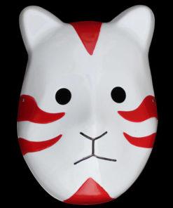 На картинке маска АНБУ (Наруто), вид спереди, цвет красный.