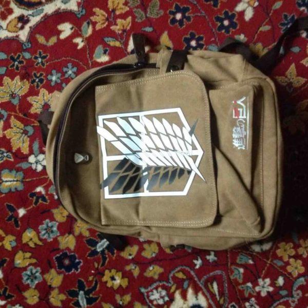 На картинке рюкзак Атака Титанов, общий вид.