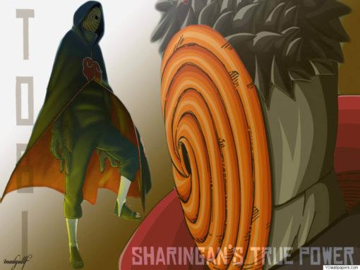 На картинке маска Тоби из Наруто, фан арт.