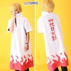 На картинке плащ 4 хокаге Минато (Наруто) Naruto, вид спереди и сзади.