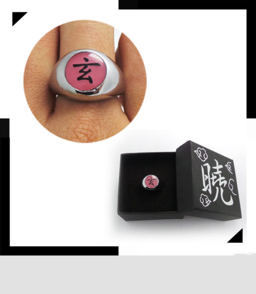 На картинке кольцо Акацуки (1 шт), вариант Кольцо Дзецу.
