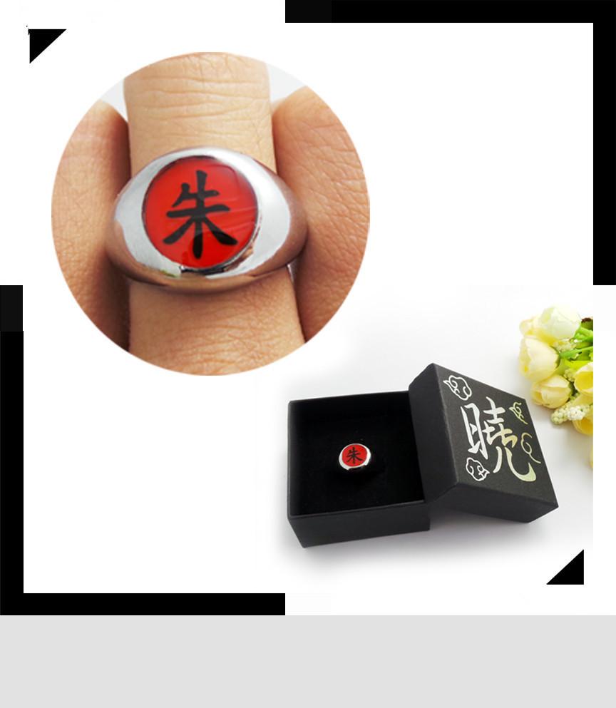 На картинке кольцо Акацуки (1 шт), вариант Кольцо Итачи.