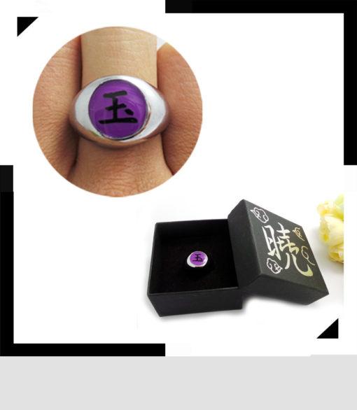 На картинке кольцо Акацуки (1 шт), вариант Кольцо Тоби.