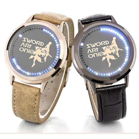 На картинке наручные часы «Sword Art Online», общий вид, 2 варианта.