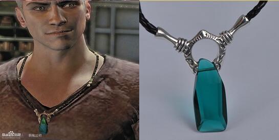 На картинке кулон Данте Devil May Cry 5 (2 варианта), цвет синий.