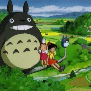 На картинке мягкая игрушка Тоторо (Totoro), кадр из аниме.