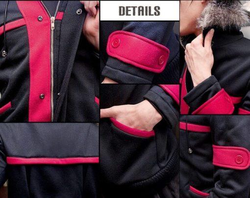 На картинке куртка Кирито «Sword Art Online», детали.