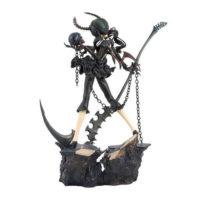 На картинке фигурка Dead Master (Black Rock Shooter), вид сзади.