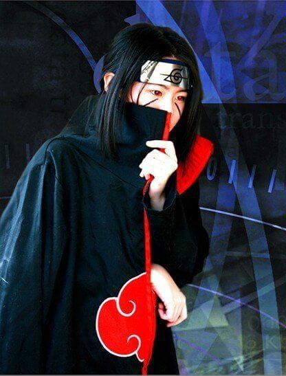 На картинке плащ Акацуки (Наруто), детали.