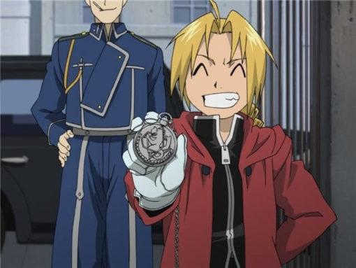 На картинке часы Стального алхимика Эдварда Элрика, кадр из аниме.