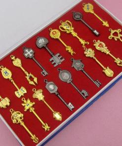 На картинке ключи Люси из «Хвоста феи» (Фейри Тейл) — 4 варианта наборов.