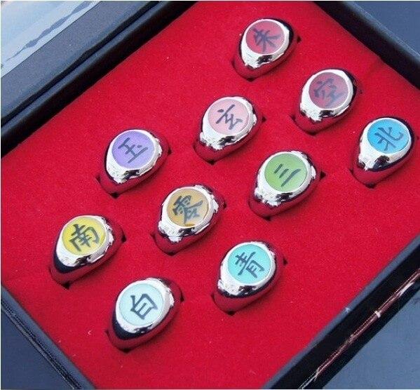 Купить кольца акацуки набор из аниме