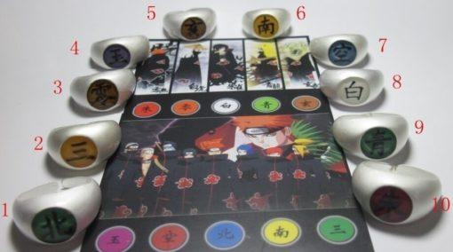 На картинке кольцо Акацуки (1 шт), все варианты.