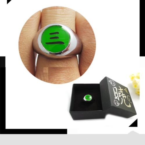 На картинке кольцо Акацуки (1 шт), вариант Кольцо Хидана.