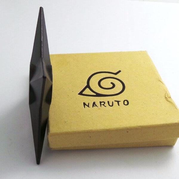 На картинке сюрикен Наруто (Naruto), вид сбоку.