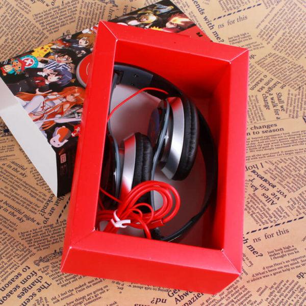 На картинке наушники Ван Пис (One piece) (3 варианта), вариант Красные.