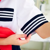 На картинке японская школьная форма (Вариант 8), детали.