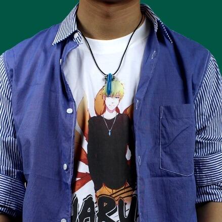 На картинке кулон-ожерелье Наруто, общий вид.