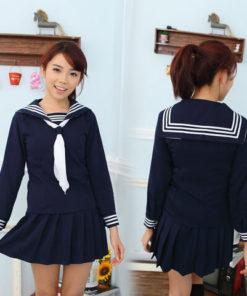 На картинке японская школьная форма (Вариант 2), вид спереди и сзади.