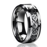 На картинке кольцо «Как приручить дракона», вариант Серебряный.