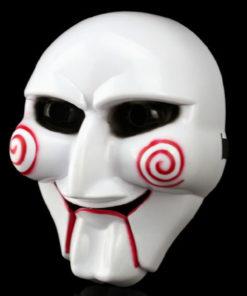 На картинке маска из фильма Пила, общий вид, вариант Пластик.