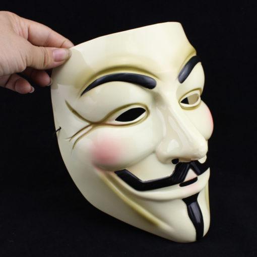 На картинке маска Гая Фокса из фильма V значит Вендетта (Анонимус), вариант 2, общий вид.