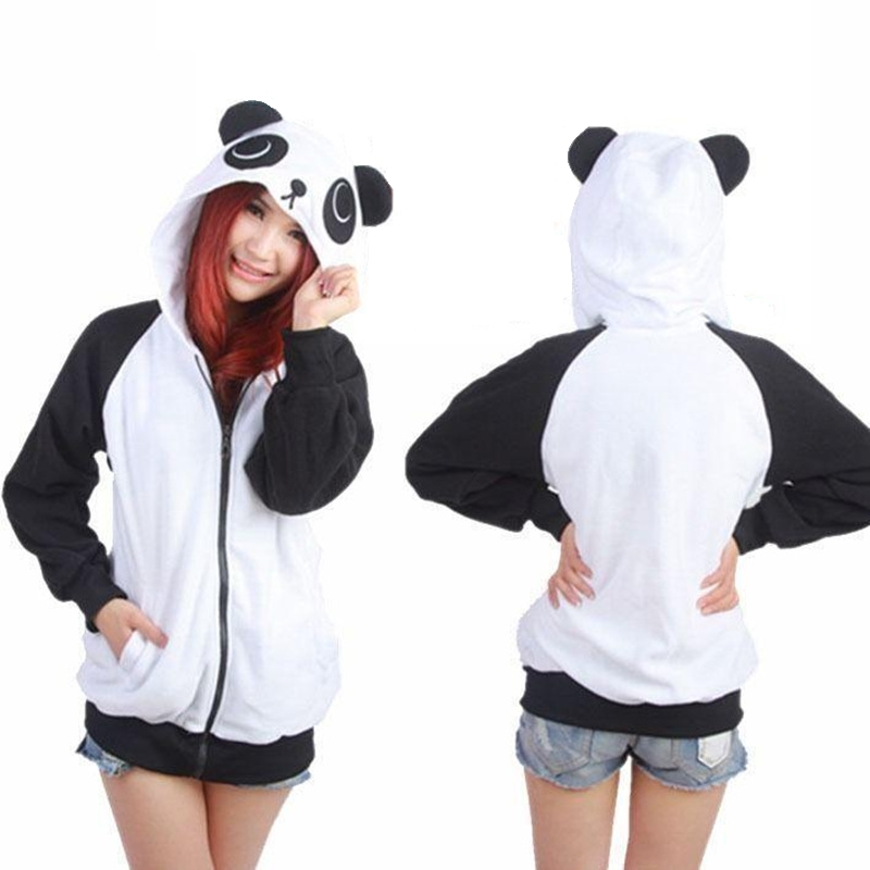 427ed420 На картинке толстовка панда с ушками (ушами) на капюшоне, вид спереди и  сзади
