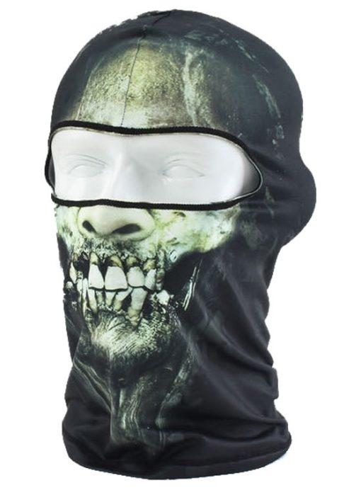 На картинке маска балаклава с черепом (3 варианта), вариант Зеленый.