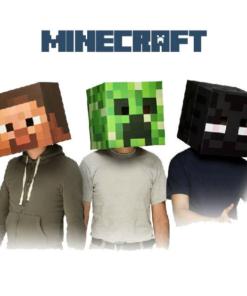 На картинке маски Майнкрафт (Minecraft) — 2 варианта.