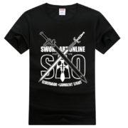 На картинке футболка Sword art online (SAO), вид спереди.