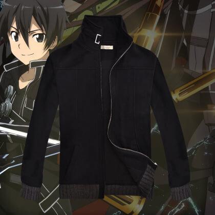 На картинке толстовка-куртка Sword Art Online, вид спереди.