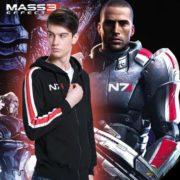 На картинке толстовка n7 из Mass effect 3 (2 варианта) Масс эффект, общий вид, цвет черный.