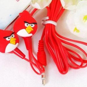 На картинке наушники Angry birds (Ангри берс) (5 вариантов), цвет красный.