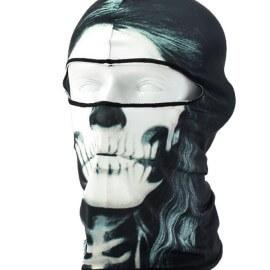 На картинке маска балаклава с черепом (3 варианта), вариант Белый.