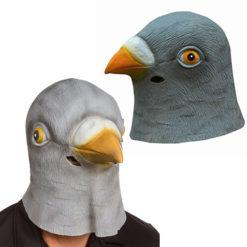 На картинке маска голубя, вид общий вид.