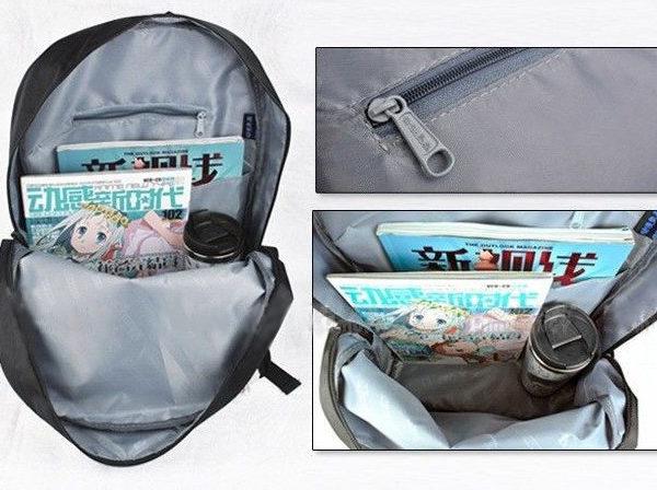 На картинке рюкзак Хатсуне Мику (Vocaloid), вид внутри.