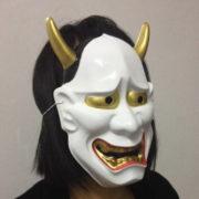 Японская маска демона Ондеко (Кабуки) фото
