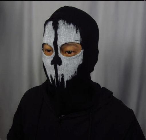 На картинке маска призрака-гоуста (ghosts) Сall of duty, зимний вариант.