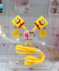 На картинке наушники Спанч Боб (Губка Боб) (3 варианта), общий вид, вариант Спанч Боб.