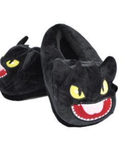 На картинке домашние тапочки игрушка Беззубик (Как приручить дракона), общий вид.