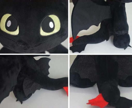 На картинке мягкая игрушка дракон Беззубик (Как приручить дракона), детали.