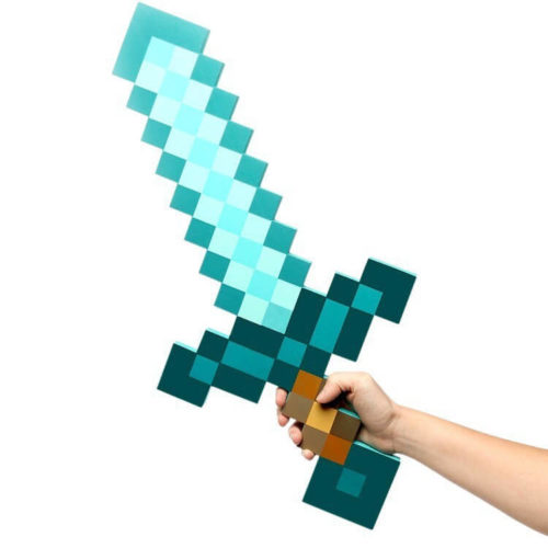 На картинке игрушка Меч алмазный из Майнкрафт (Minecraft) — 3 варианта, цвет синий.