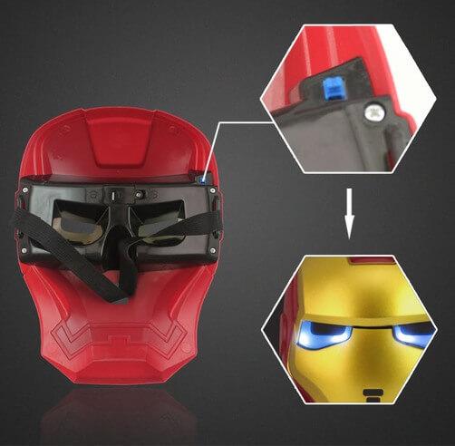 На картинке маска Железного человека (светящаяся), вид сзади.