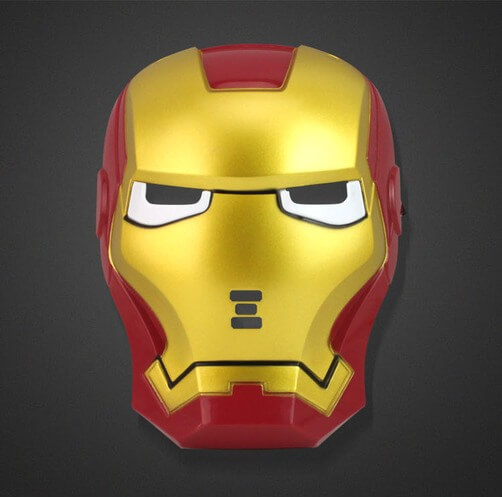 На картинке маска Железного человека (светящаяся), вид спереди.