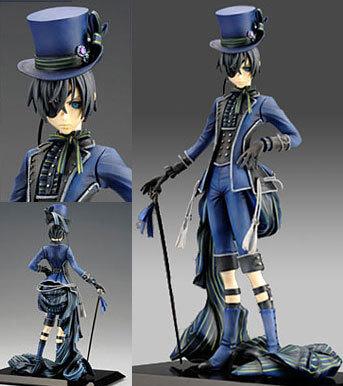 На картинке фигурка Сиэль Фантомхайв Темный дворецкий (Kuroshitsuji), вид спереди.