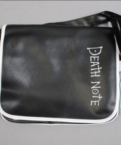 На картинке сумка Тетрадь смерти (2 варианта), вариант Death note, вид спереди.