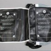 На картинке сумка Тетрадь смерти (2 варианта), вариант Death note, в раскрытом виде.