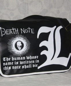 На картинке сумка Тетрадь смерти (2 варианта), вариант L, вид спереди.