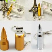 Флешка-патрон в виде пули (2 варианта) фото